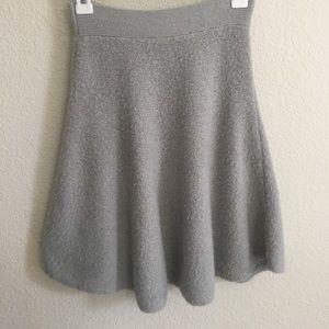 BCBGmaxazria Fluffy skater grey skirt size XS